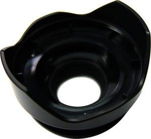 デジカメ用レンズパーツ(ガラス繊維入り樹脂)ツヤ消しブラック 内側マスキング塗装