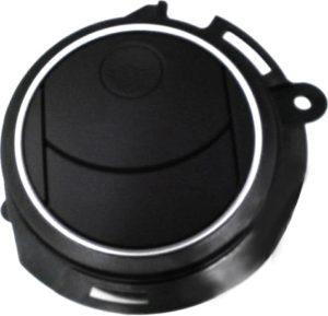 自動車エアコンユニット ツヤ消しブラック(稼動部マスキング)マスキング塗装シルバー(見切り0.2mm管理)